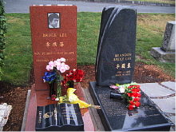 Bruce Lee Is Buried Next To His Son Brandon in Lakeview Cemetery, Seattle
