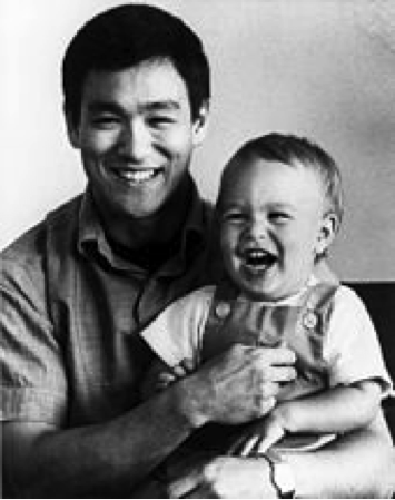 Lee With Son Brandon In 1966